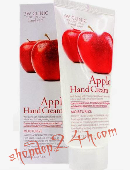 [ 3W Clinic ] Dưỡng Da Tay - Apple Hand Cream 100ml
