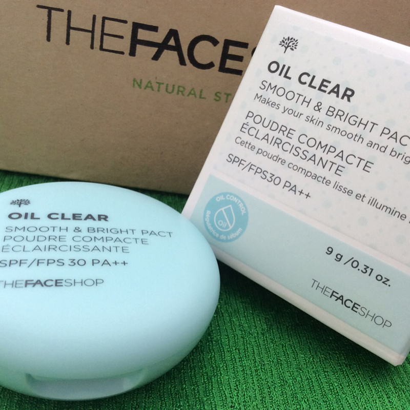 [The Face Shop] Phấn nén kiềm dầu Oil Clear Smooth & Bright Pact spf/fps 30PA++