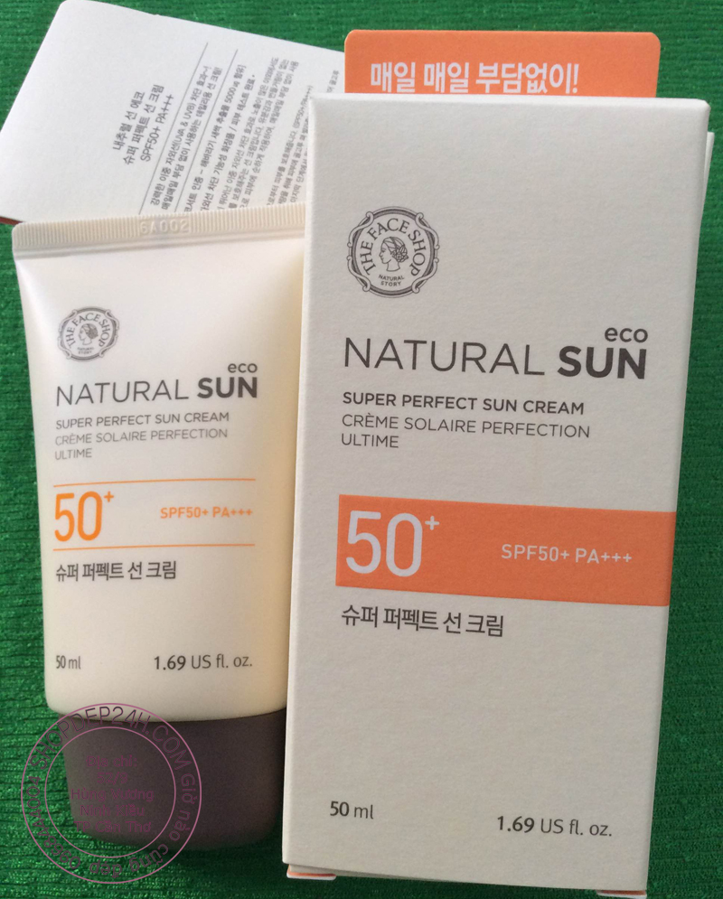 [THE FACE SHOP] Natural Sun Eco Super Perfect Sun Cream SPF50+ PA+++  50ml (New)