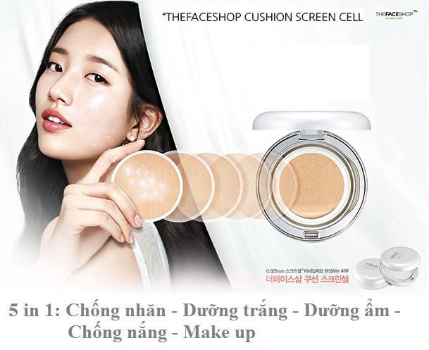 [The Face Shop] Phấn nước Cushion Screen Cell SPF50+ PA+++