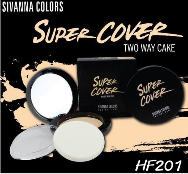 Phấn nén Sivanna Super Cover Two Way Cake HF201